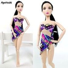 1 ensemble Sexy maillots de bain Bikini pour Barbie poupée vêtements plage & bouée de sauvetage maillot de bain pour 1/6 BJD poupée accessoires enfants jouet