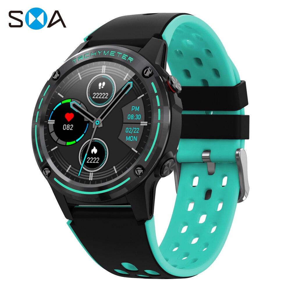 SMA M6C ساعة ذكية للرجال 2021 تعمل باللمس الكامل اللياقة البدنية المتكاملة لتحديد المواقع بارومتر البوصلة النساء Smartwatch لسامسونج شاومي أندرويد IOS