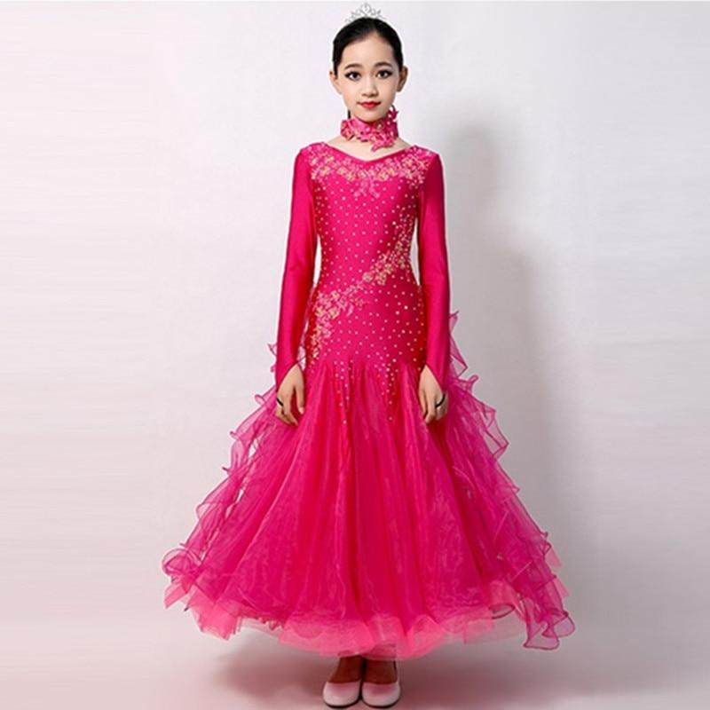 Vestidos de baile de salón de baile vestido de baile de vals para niñas disfraces de baile de tango para niños vestidos de baile de salón para niños