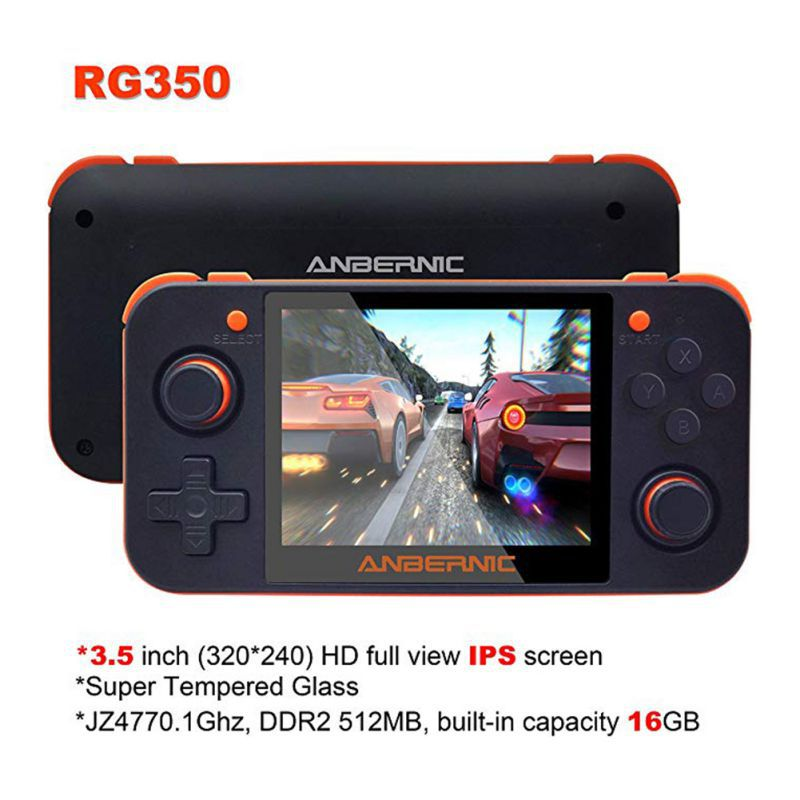 2020 consola de juegos portátil RG350 consola de juegos Retro gratis con tarjeta de 32G TF pantalla IPS accesorios para consola de videojuegos