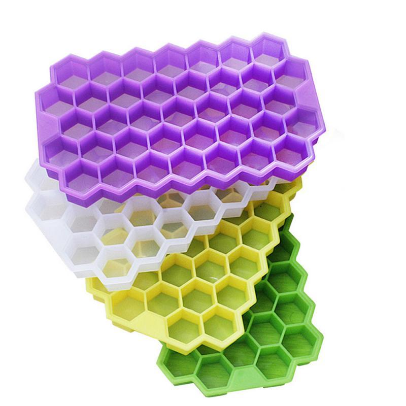 Cubo de hielo de panal, bandeja de 37 cubos de silicona, molde...