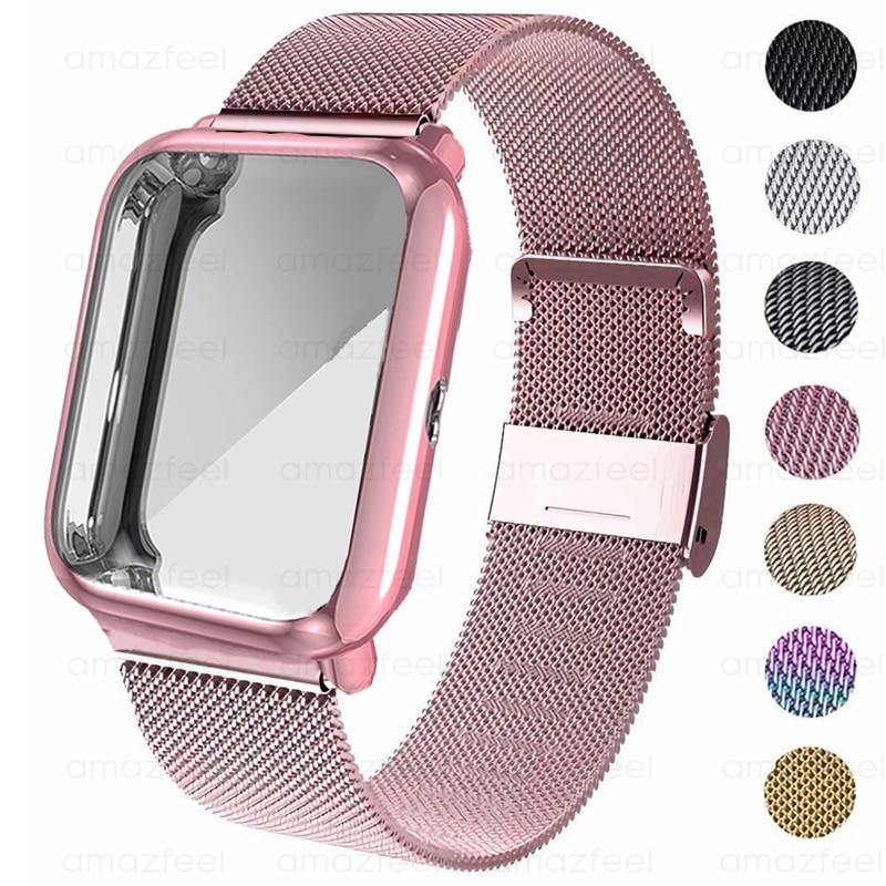 Wrist Strap For Amazfit Bip Case Strap Metal Bracelet For Huami Amazfit Bip Lite S U Wrist Strap Ban