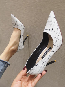 2020 spring and autumn new wild net red French girl student high heels stiletto sexy women's shoes single shoes