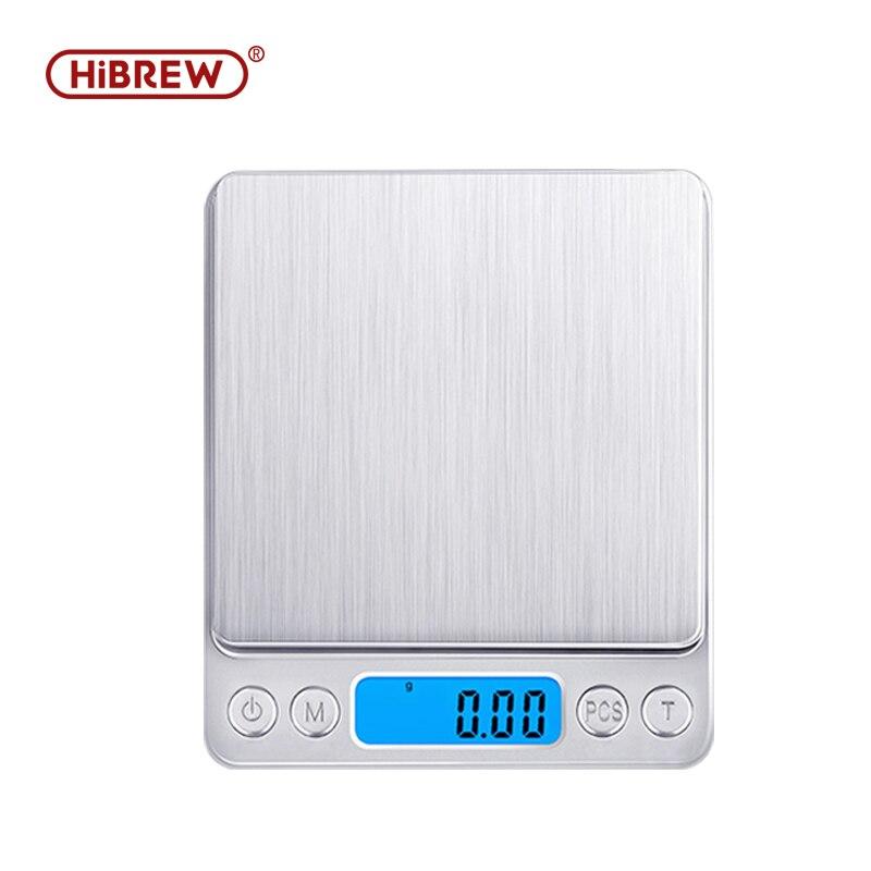 Hibrew café feijão pesando 0.1g gotejamento escala de café com temporizador eletrônico portátil digital cozinha escala alta precisão lcd