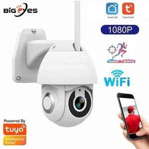 Tuya Outdoor Smart Home Security Camera 2MP 1080P Outdoor Smart Wifi PTZ Camera