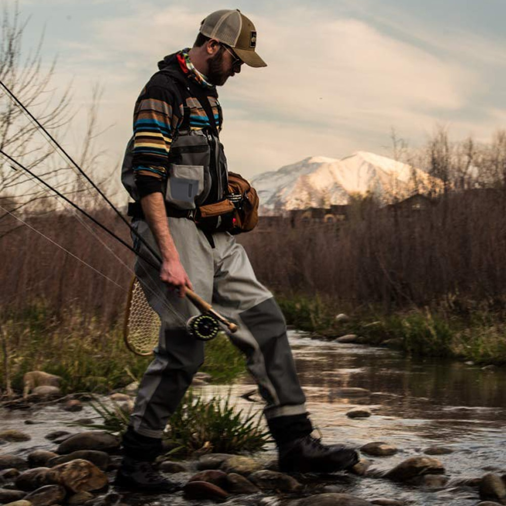 Fishmen Chest Wader Waterproof Dry Pants Breathable Zip-front Stockingfoot Waders With Overlayed Pockets for Hunting Fishing enlarge