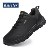lightweight men sneakers leather upper casual shoes men fashion big size jogging sneakers high quality shoes male zapatos hombre