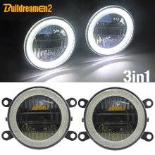 3-en-1 fonction voiture LED antibrouillard lumière diurne ange oeil projecteur antibrouillard H11 prise pour Jaguar XK XJ x-type s-type