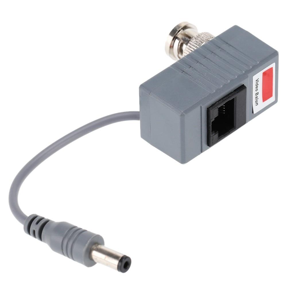5Pairs CCTV Camera Accessories BNC To RJ45 Passive Balun Video Power + Audio Balun Transceiver For CCTV Camera enlarge