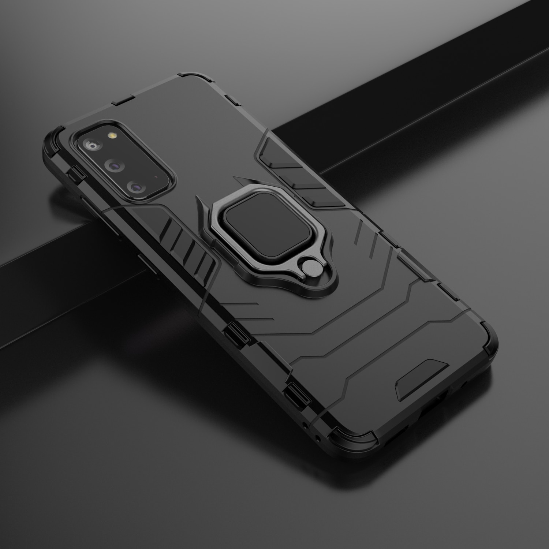 Funda armadura de lujo para Samsung Galaxy S8 S9 S10 S20 Ultra J4 J6 Plus 2018 Note 10 Lite Anti-caída a prueba de golpes funda trasera completa con soporte