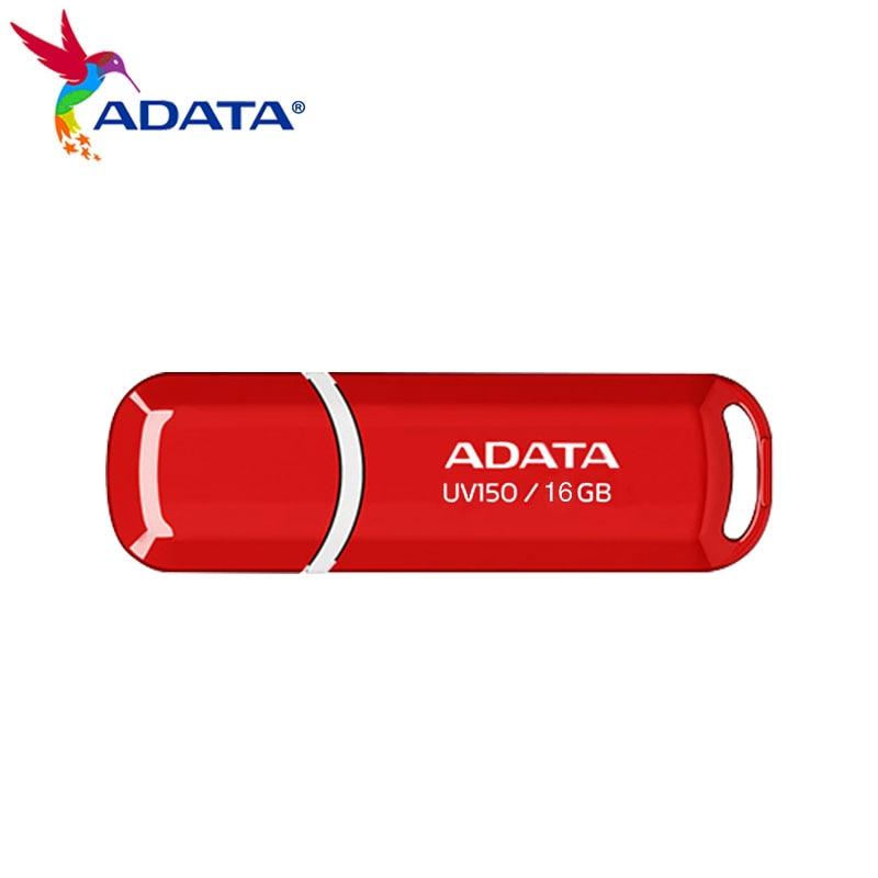 USB флеш-накопитель 64 Гб USB 3,2, Флешка 32 Гб UV150 16 ГБ, красная Флэшка для компьютера, U-диск, 100% оригинал, ADATA