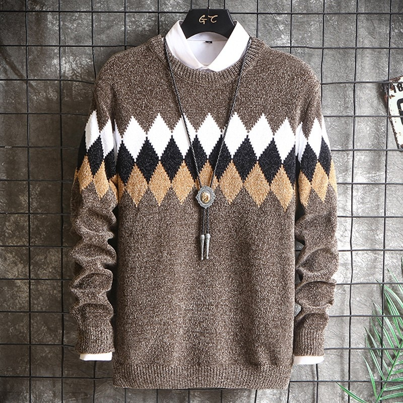 Фото - Men's Sweater Men Pullover Hombre Sweaters Fashion Clothing Korean Style Sweater Winter New Sweater Sueter Masculino Hombres fall winter sweater men thickened korean fashion personality sweater lazy pullover sweater coat