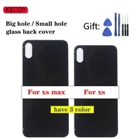 1pcs for iphone xs xs max rear housing door replacement xsmax back battery glass cover high quality parts
