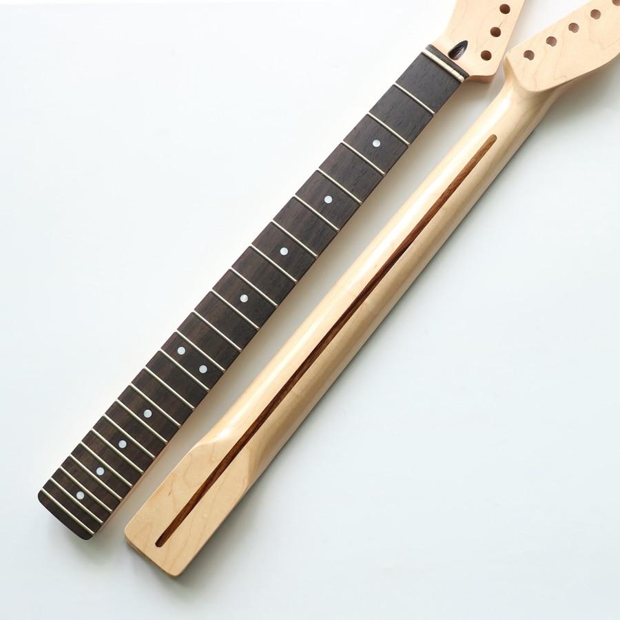 Nitro finished 22 лада левша канадская Кленовая гитара Шея для Tele гитары s с палисандр гриф