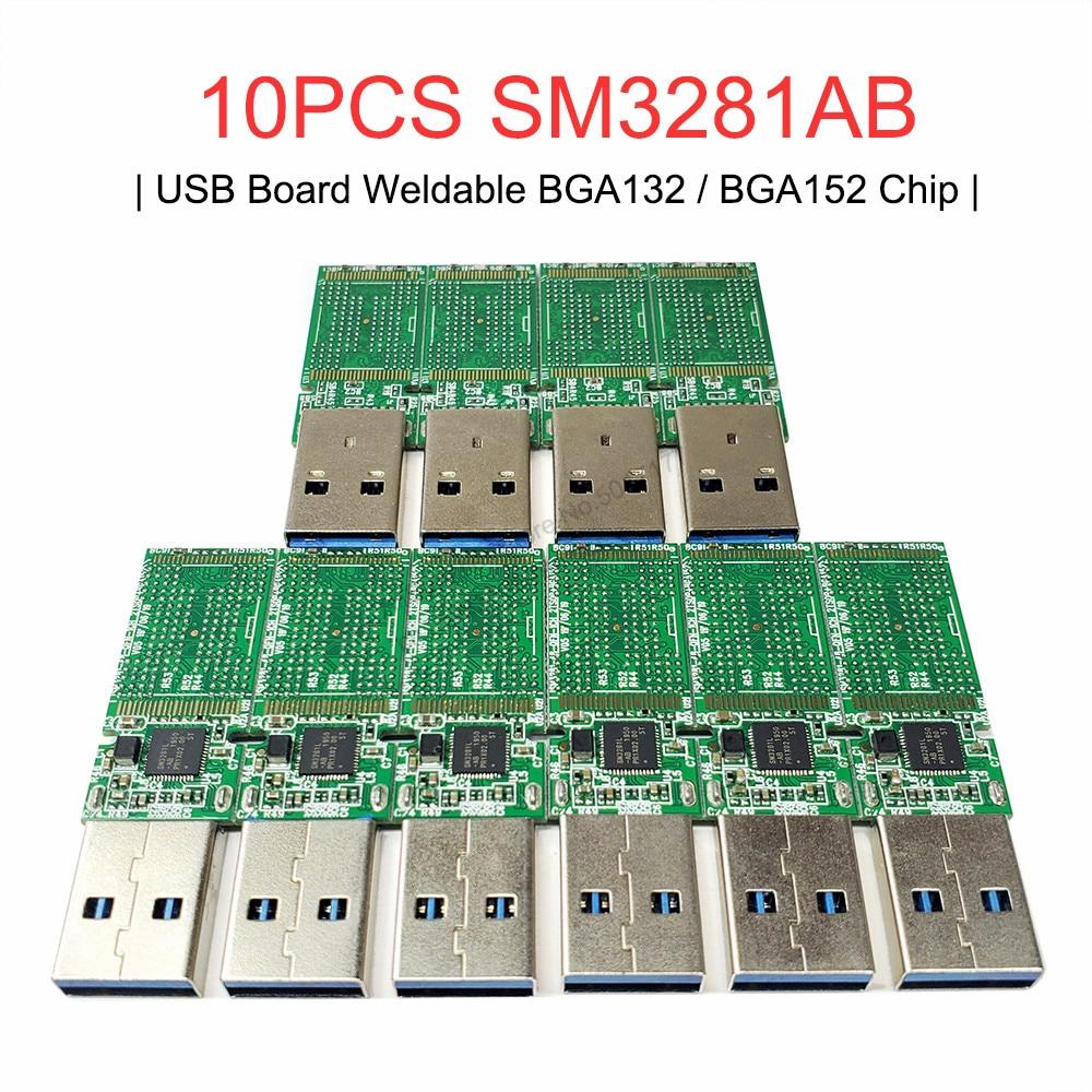 10 قطعة SM3281AB U القرص الرئيسية لوحة تحكم PCBA ل NAND فلاش USB 3.0 مزدوج لحام BGA132 BGA152 رقاقة U القرص PCB تحكم