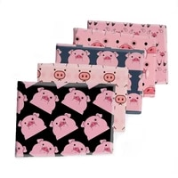 cute pink pig printed polyester cotton fabric twill fabrics sheet for diy dress patchwork sewing supplies 50145cm