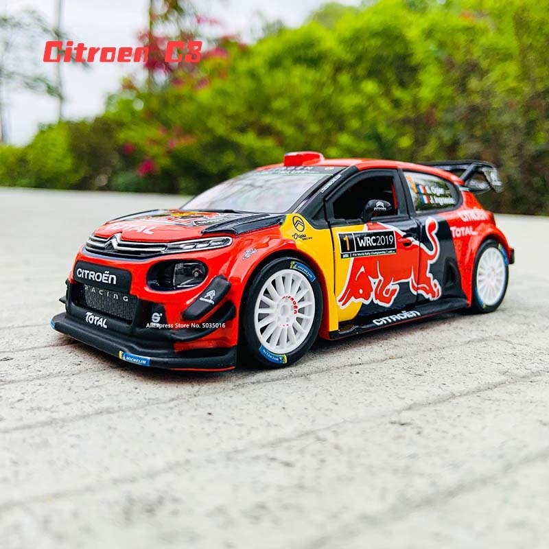 Bburago 1:32 The new  citroen C3 WRC-Rally Monte Carlo 2019 Esapekka Lappi Rally Racing Alloy Model Car model Collecting gifts