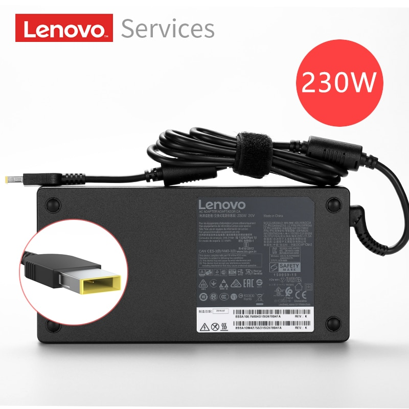 Оригинальный 20V 11.5A 230W AC адаптер питания зарядное устройство для ноутбука Lenovo Y7000 Y7000P Y920 Y540 Y9000K P51S P52 W540 W541
