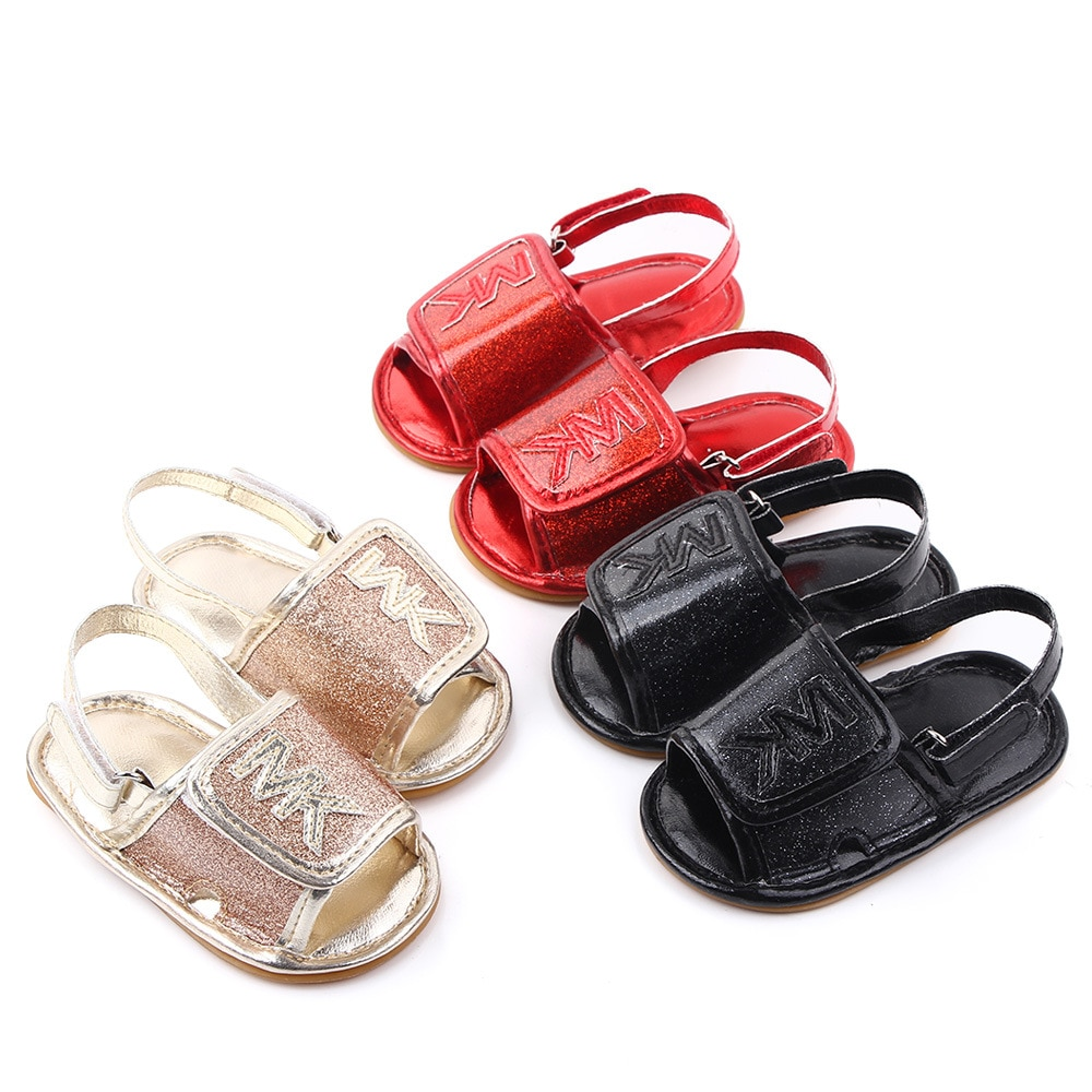Summer PU Leather Baby Shoes Baby Girls Sandals Baby Shoes Soft Bottom Rubber Bottom Baby Shoes Whol