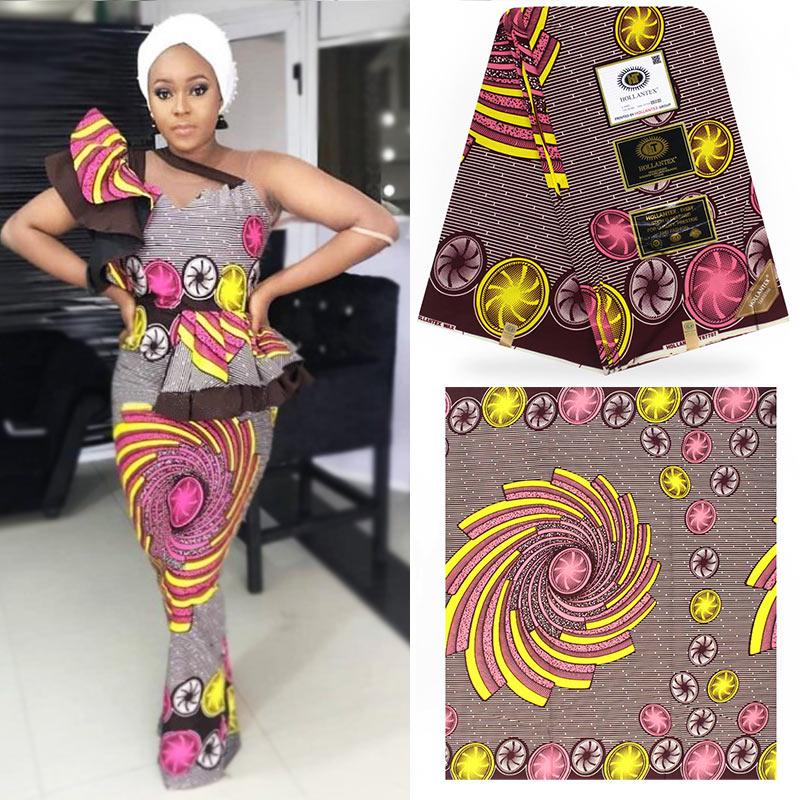 Hermosa pagne de algodón Africana cera HOLLANTEX Estilo mariposa cera tissu Ankara tela de novia vestidos H180709
