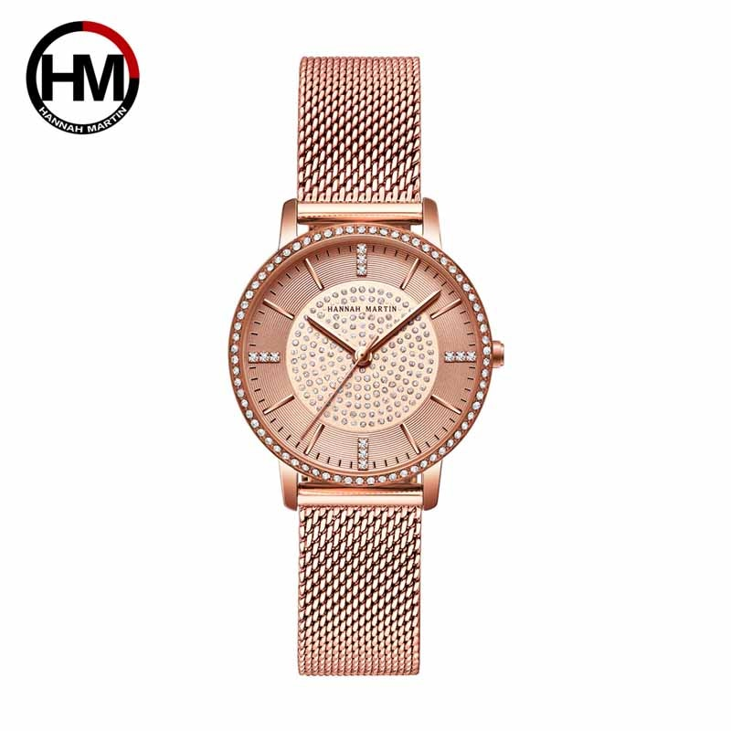 Hannah Martin Quartz Diamond Watch Gifts for Women Watch Fashion Luxury Brand Ladies Watches Wrist Watches for Women Reloj Mujer hannah martin wristwatch women watches luxury brand quartz steel strap female watch diamond ladies watch clock women reloj mujer