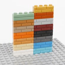 Bricolage bloc de construction mur brique 1 / 4 points 50 pièces de léducation des enfants puzzle taille créative jouets