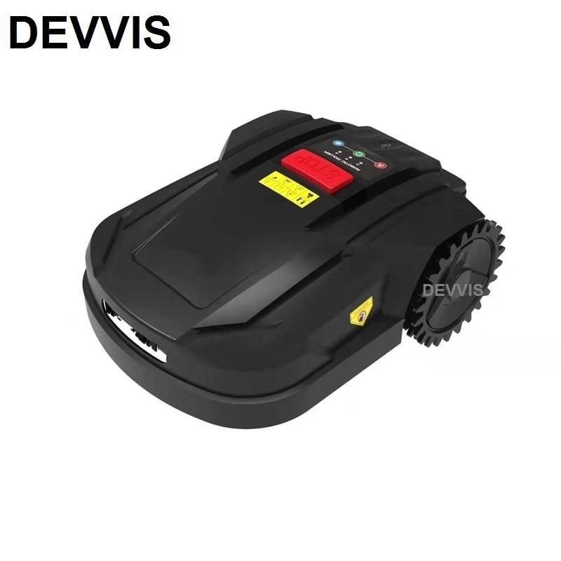 DEVVIS قاطع غاز القص روبوت H750T مع واي فاي App التحكم ، جيروسكوب الملاحة مع 100m سلك 100 قطعة أوتاد 6 قطعة شفرة