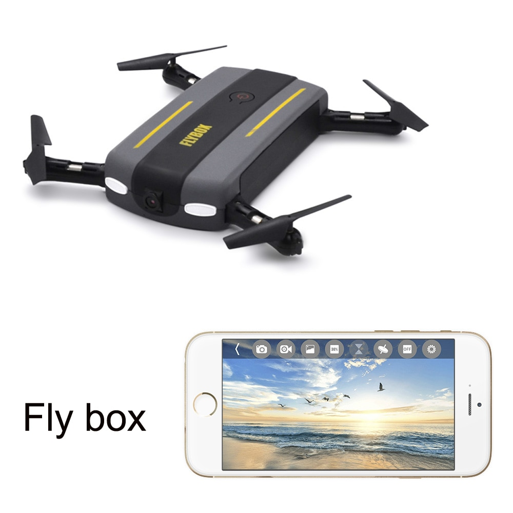 Nuevo Drone RC Dron WiFi FPV plegable Drone Quadcopter con cámara HD giroscopio de 6 ejes Control remoto helicóptero fly caja de juguetes