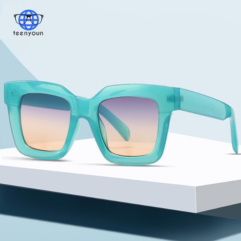 TEENYOUN Mujer мужские очки от солнца для Для женщин Lunette De Soleil Femme Элитный бренд солнцезащитные очки Винтаж мужские большие солнцезащитные очки