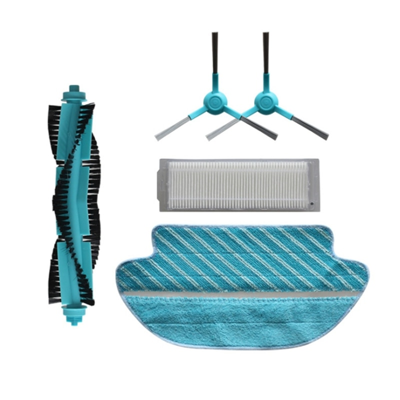Vacuum Brush Replacement for Proscenic M7 Vacuums Parts Hepa Filter Side Brush Mop Rag