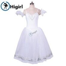 Blanc cygne lac giselle ballet tutu robe romantique ballet tutu pour filles ballerine robe enfants giselle ballet costumes BT8954D