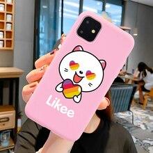 Mode comme un chat ours amour coeur rose Silicone souple coque de téléphone pour iPhone 6 6S 7 8 X XS Max XR 11 Pro Max funda coque