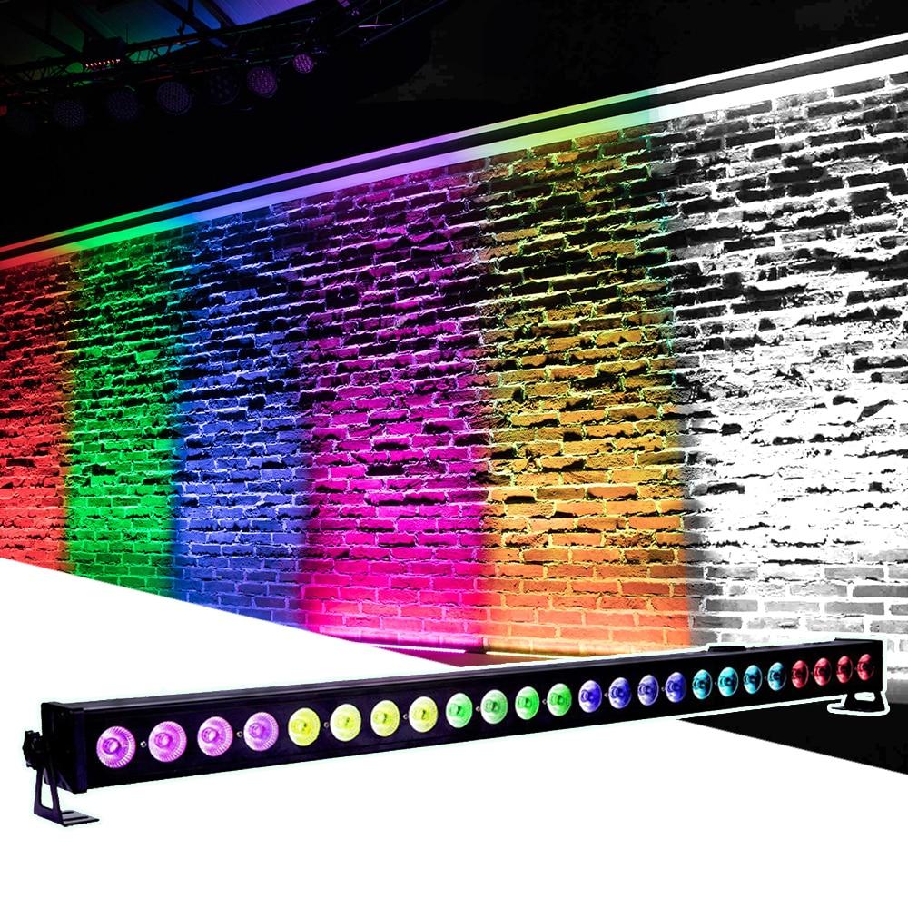 LED 24X4W RGBW 4IN1 Wall Wash Light DMX512 Par led Bar Light DJ Disco Club DMX Stage Party Show Effect Lighting Beam Wash 2IN1 9x10w led rgbw 4in1 led wall wash light point control dmx led bar dmx line bar wash stage light effect party wedding event light