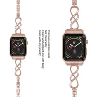 women diamond band for apple watch 3 strap 38mm 42mm replacement metal strap for apple watch 6 strap 44mm 40mm iwatch serice 5 4