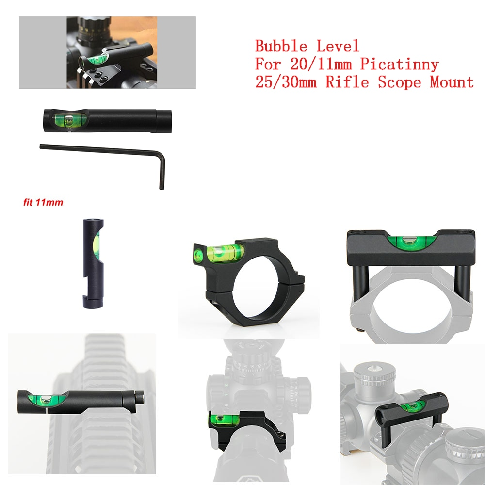 spirit level for 25mm rifle scope mount rings sights Bubble Level Airsoft Guns Rifle Scope Mount for 20mm 11mm Picatinny Weaver Rail 25/30mm Rifle Sight Scope Mount Anti-cant