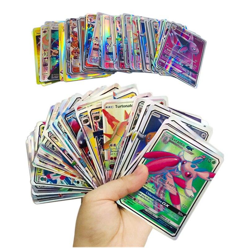 Superventa mezcla de tarjetas pokemon colección GX mega EX tarjetas para Funs niños juguete en inglés