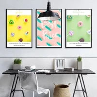lollipop donut macaron canvas painting nordic style still life wall art picture posters decoration home living room office