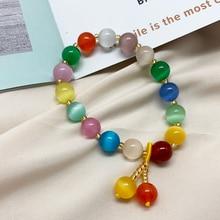 Momiji 10mm Natural Stone Beaded Bracelet Multi-colored Fashion Jewelry for Women Handmade Round Cha