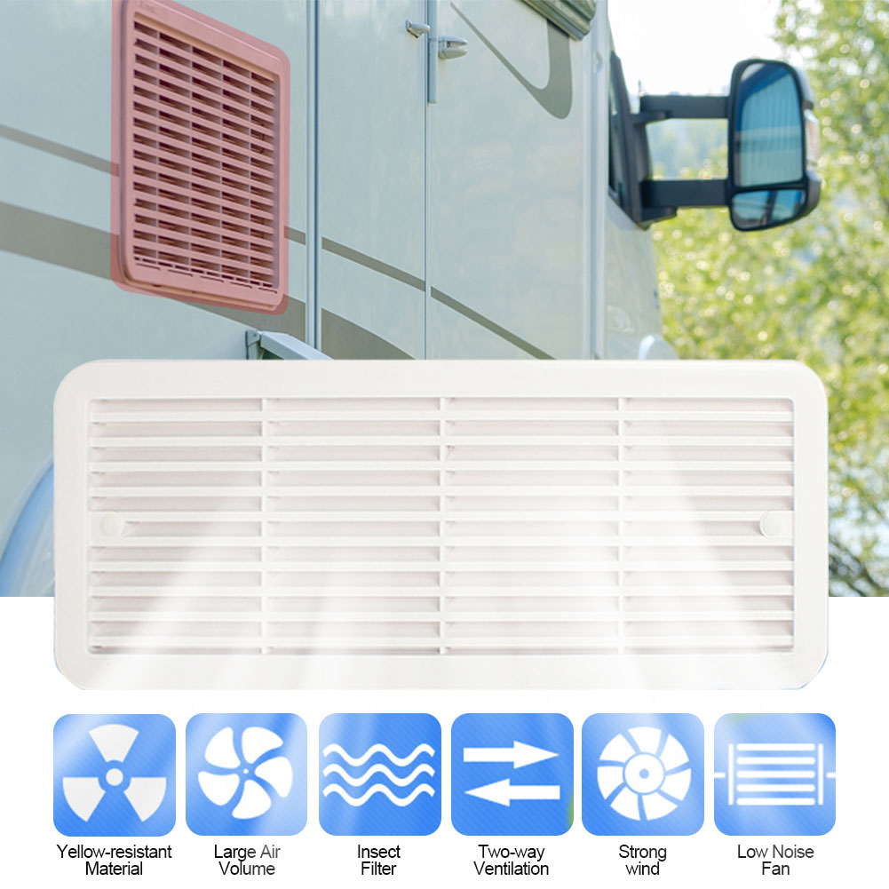 Camper 12V Ventilation Vent Fan for RV Trailer Caravan Side Air Outlet Exhaust Fan White enlarge