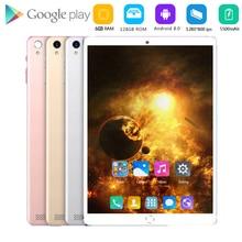 Nouvelle tablette PC Android 8.0 de 10 pouces, avec ROM de 128 go, 6 go de RAM, SIM, 3G, WiFi, 4G LTE, Bluetooth, verre, 10.1