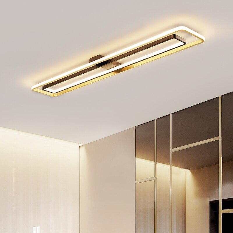 جديد 2021 شريط طويل ضوء السقف الممر الممر ضوء أسود أبيض بريق الحديثة نمط المنزل مدخل أضواء الفاخرة شرفة مصباح