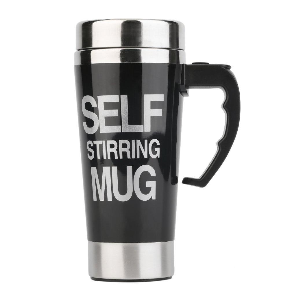 350ml Stainless Steel Self Stirring Mug Auto Mixing Tea Milk Coffee Cup Office Kitchen Bar 3 colors Mugs Drop shipping Drinkware