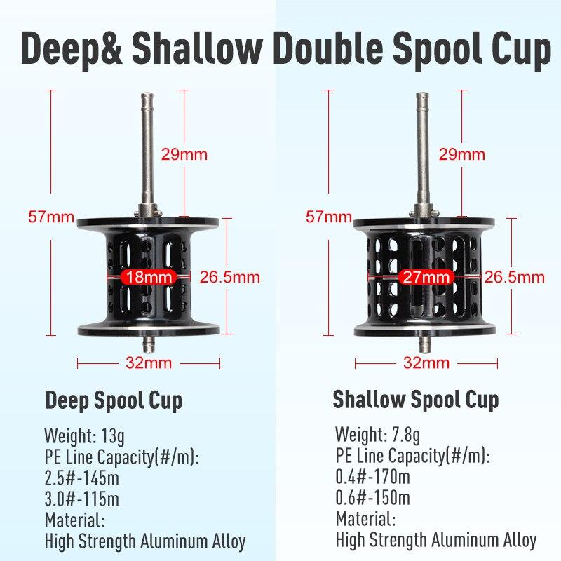 Kingdom SliverMoon 2 Spools Fishing Reel Baitcasting Wheel  5kg Max Drag 6.5:1 High Speed 7+1 NMB Bearing Saltwater Fishing Reel enlarge