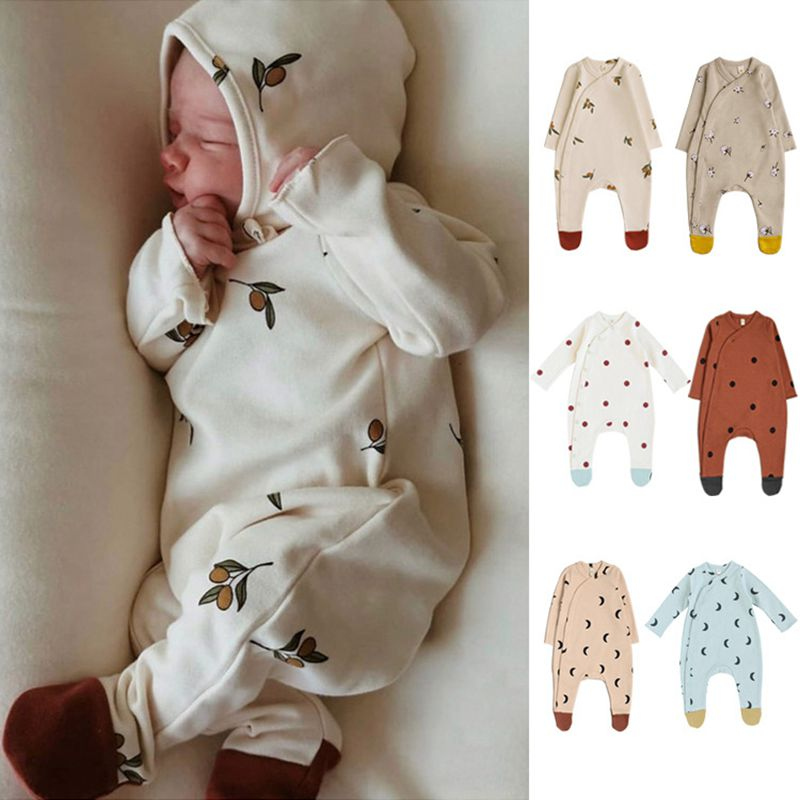Autumn Baby Girls Boys Rompers Spring Newborn Baby Clothes Long Sleeve Cotton Jumpsuit Baby Clothing Print Infant Kids Outfits cute newborn baby clothing long sleeve cotton solid baby rompers peter pan collar girls boys clothes jumpsuit infant costumes