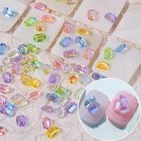 100 pcs nail art resin square shape rhinestone diamond mix nail art rhinestones diy nail jewelry accessories