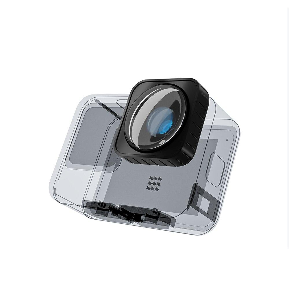 TELESIN زاوية واسعة جدا 155 درجة ماكس عدسة وزارة الدفاع ل GoPro 9 مع 2 حماية يغطي ل GoPro بطل 9 الأسود اكسسوارات