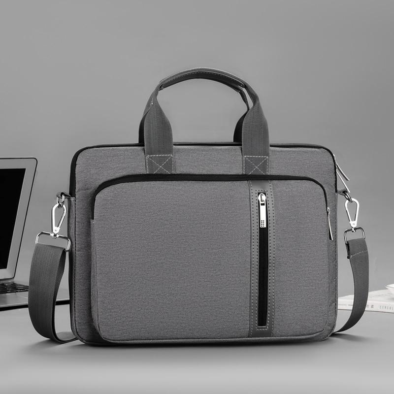 Waterproof Laptop Bag 13.3 14 15.6 17 Inch Notebook Case Sleeve For Macbook Air Pro Computer Shoulder Handbag Women Briefcase