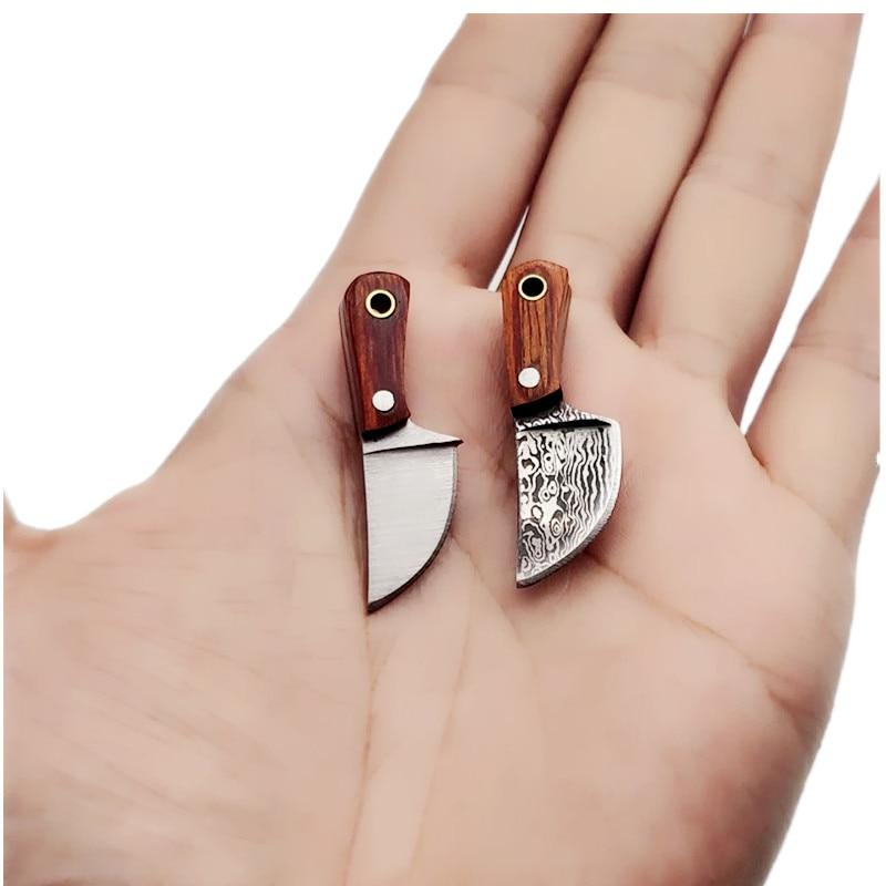 Portachiavi coltello da cucina piccolo mini portatile EDC lama fissa - Utensili manuali - Fotografia 5