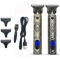 t9 lcd professional digital hair trimmer rechargeable electric hair clipper mens cordless haircut adjustable ceramic blade