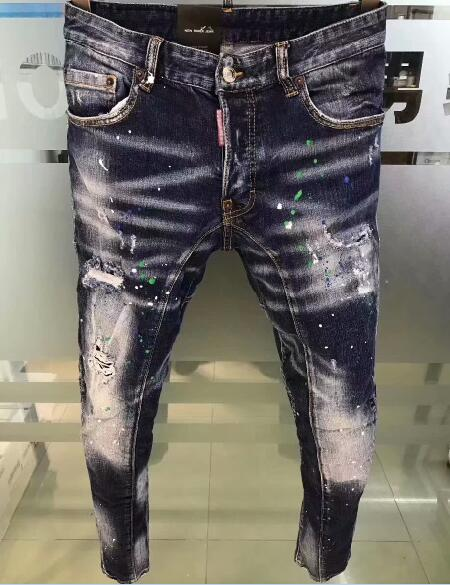 DSENQI, nuevos pantalones vaqueros rasgados para hombre DSQ, pantalones vaqueros de motorista, prendas de vestir para hombre, pantalones A232